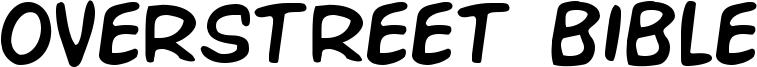 Overstreet Bible Font