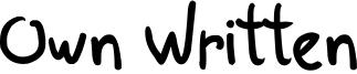 Own Written Font