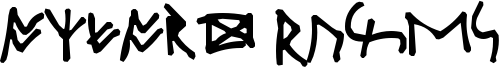 Oxford Runes Font