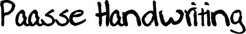 Paasse Handwriting Font
