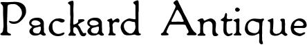 Packard Antique Font