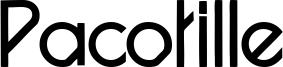 Pacotille Font