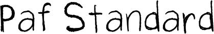 Paf Standard Font