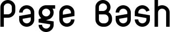 Page Bash Font