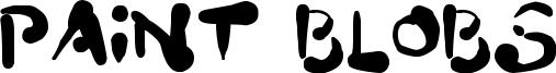 Paint Blobs Font