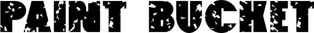 Paint Bucket Font