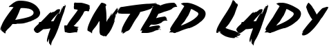 Painted Lady Font