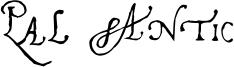 Pal Antic Font