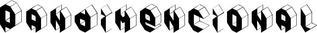 Pandimencional Font