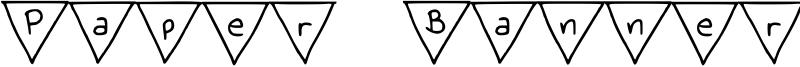 Paper Banner Font