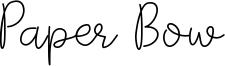 Paper Bow Font