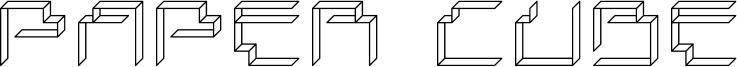 Paper Cube Font