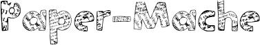 Paper-Mache Font