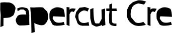 Papercut Cre Font
