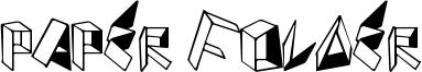 Paper Folder Font