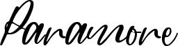Paramore Font