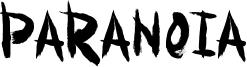 Paranoia Font