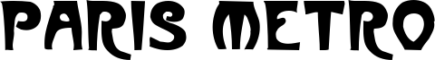 Paris Metro Font