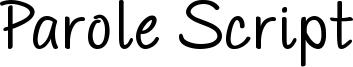 PAROLE Script Bold Demo.otf