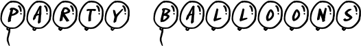 Party Balloons Font