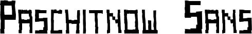 Paschitnow Sans Font