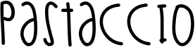 Pastaccio Font