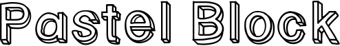 Pastel Block Font