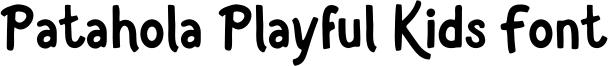 Patahola Playful Kids Font Font
