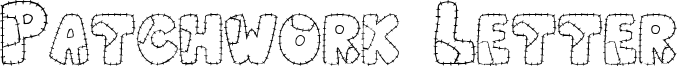 Patchwork Letter Font