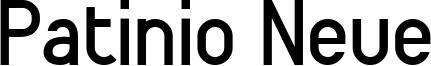 Patinio Neue Font