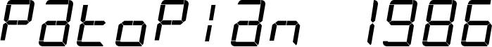 Patopian 1986 Font