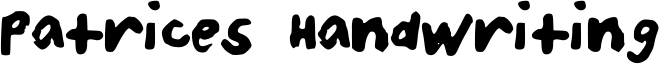 Patrices Handwriting Font