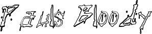 Pauls Bloody Font