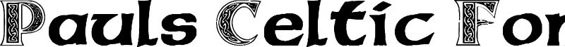 Pauls Celtic Font 3 Font