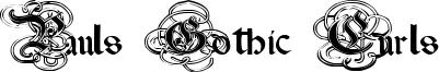 Pauls Gothic Curls Font