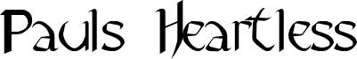 Pauls Heartless Font