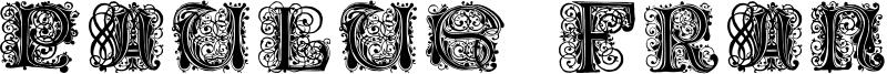 Paulus Franck Initialen Font