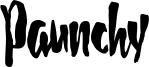Paunchy Font