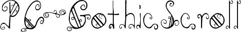 PC-GothicScroll Font