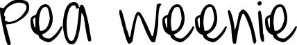 Pea Weenie Font