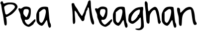 Pea Meaghan Font
