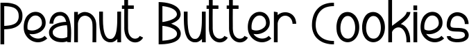 Peanut Butter Cookies Font