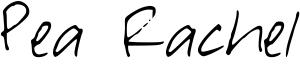 Pea Rachel Font