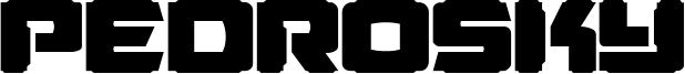 Pedrosky Font