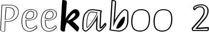 Peekaboo 2 Font