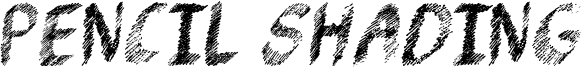 Pencil Shading Font