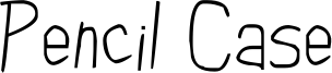 Pencil Case Font