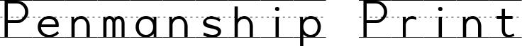 Penmanship Print Font