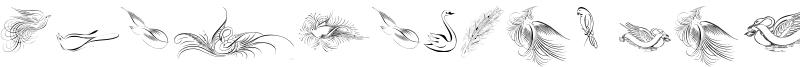 Penmanship Birds Font