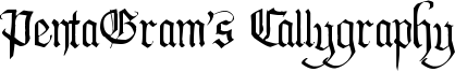 PentaGram's Callygraphy Font